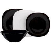 Набор тарелок 19 пр Карин черно-белый (d2381) N1491
