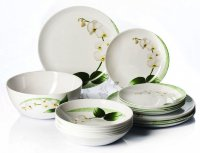 Набор тарелок 19 предметов Уайт Орхид J7497